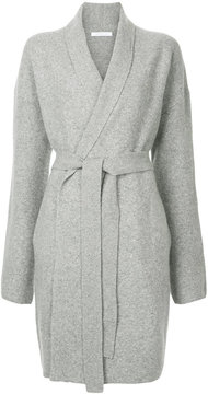 ESTNATION drawstring wrap cardi coat