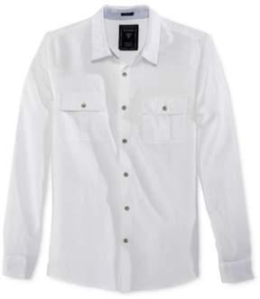 GUESS Mens Long Sleeve Button Up Shirt