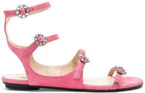 Jimmy Choo Naia Suede Sandals