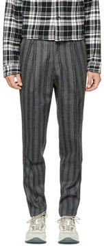 TOMORROWLAND Grey Striped Pleated Trousers