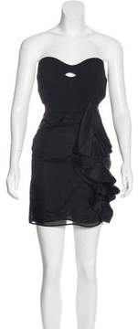 Antonio Berardi Wool Strapless Dress