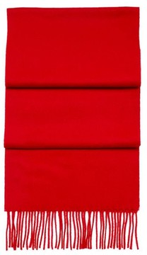 Aspinal of London Pure Cashmere Scarf In Red