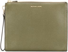 MICHAEL Michael Kors Mercer wristlet clutch - GREEN - STYLE