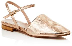 Charles David Mellow Metallic Ankle Strap Flats