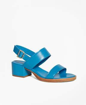 Brooks Brothers Low Ankle-Strap Sandals
