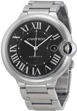 Cartier Ballon Bleu De Black Dial Stainless Steel Watch
