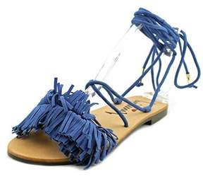 Luichiny Toss Around Open Toe Suede Sandals.