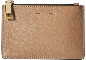 Marc Jacobs Saffiano Color Blocked Top Zip Multi Wallet Wallet Handbags - FRENCH GREY MULTI - STYLE