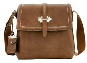 Dooney & Bourke Florentine Toscana Small Messenger Bag. - ELEPHANT - STYLE