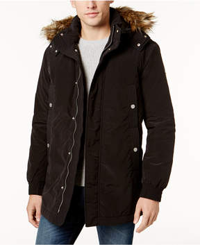 Armani Exchange Men's Parka Coat With Faux Fur-Trimmed Hood