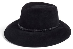 Eric Javits Women's Anette Fur Felt Fedora - Black