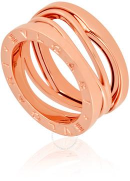 Bvlgari B.Zero1 18K Pink Gold 3-Band Ring Size 6 1/4)
