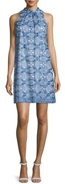 Erin Fetherston Sleeveless Printed Cocktail Dress, Blue