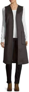 Leo & Sage Women's Sleeveless Open Front Coat