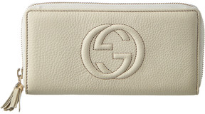 Gucci Soho Leather Zip Around Wallet - WHITE - STYLE