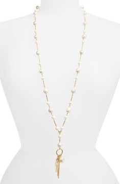 Chan Luu Women's Mix Charm Cultured Pearl Necklace