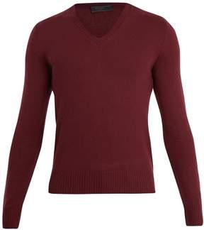 Prada V-neck cashmere sweater