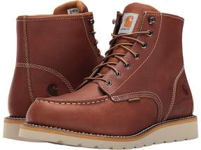 Carhartt 6-Inch Tan Waterproof Wedge Boot Men's Work Boots