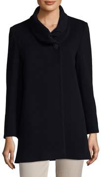 Cinzia Rocca Women's Wool-Blend Shawl Coat