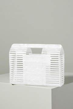 Anthropologie Caged Lucite Basket Bag