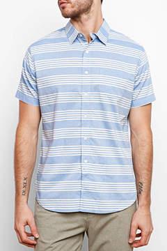 Grayers Sheffield Stripe Short Sleeve Button Down Shirt
