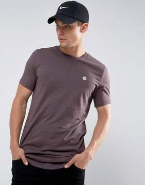 Le Breve Logline Curved Hem Marl T-Shirt