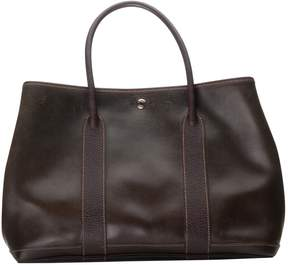 Hermes Garden Party leather tote - BROWN - STYLE