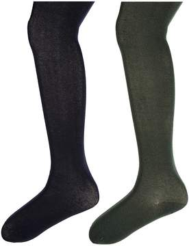 Jefferies Socks Seamless Organic Cotton Tights 2-Pack Hose