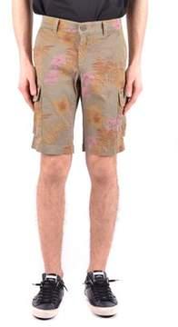 Mason Men's Green Cotton Shorts.