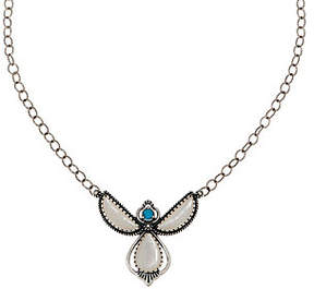 American West Sterling Mother of Pearl AngelNecklace