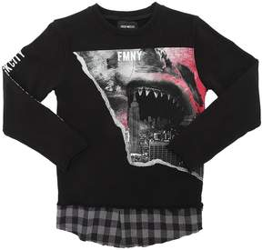 Fred Mello Shark Printed Cotton Sweatshirt