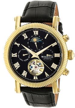 Heritor Winston Mens Black Strap Watch-Herhr5204