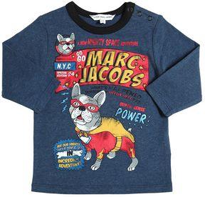 Little Marc Jacobs Superhero Printed Cotton Jersey T-Shirt
