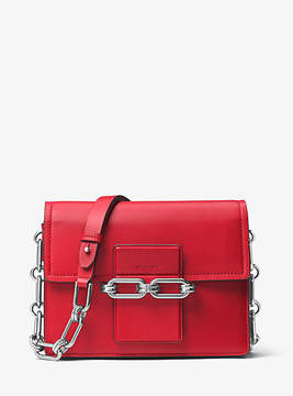Michael Kors Cate Medium French Calf Shoulder Bag - RED - STYLE