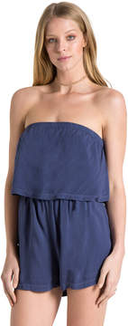 Bella Dahl Strapless Flowy Romper-Crown Blue-XS