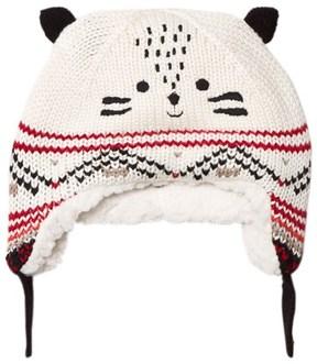 Catimini Cream Tiger Hat with Teddy Lining