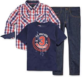 U.S. Polo Assn. 3-pc. ls woven set
