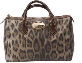 Roberto Cavalli Gold Cloth Handbag