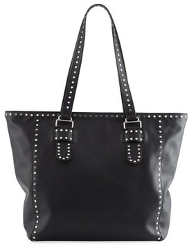 Rebecca Minkoff Midnighter Leather Stud Tote Bag - BLACK - STYLE