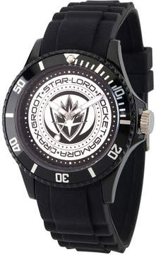 Marvel Guardian Of The Galaxy Mens Black Strap Watch-Wma000103