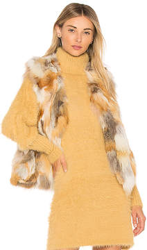 Adrienne Landau Natural Fox Vest