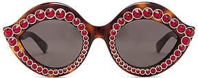 Gucci Cat Eye Crystal in Brown.