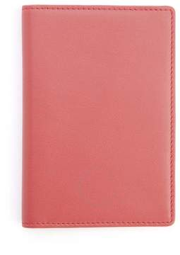 Royce Leather Royce Red RFID Blocking Leather Passport Wallet