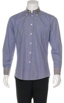 Bottega Veneta Gingham Button-Up Shirt