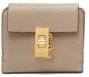 Chloé Drew Leather Wallet - Womens - Grey