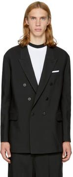 Neil Barrett Black Oversized Double-Breasted Blazer