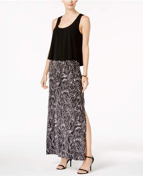 Connected Popover Racerback Maxi Dress