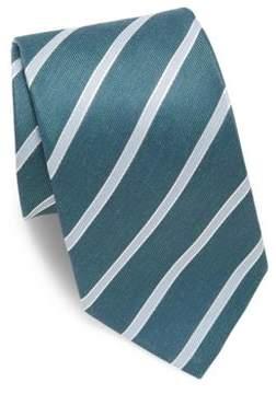 Eton Striped Linen & Silk Tie