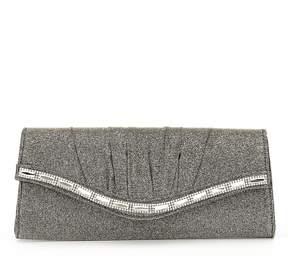 Kate Landry Pleated Glittery Stone-Flap Clutch