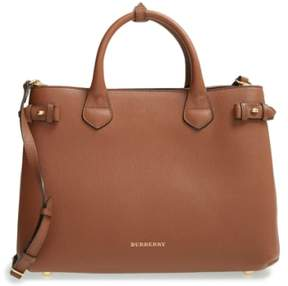 Burberry Medium Banner Leather Tote - Beige